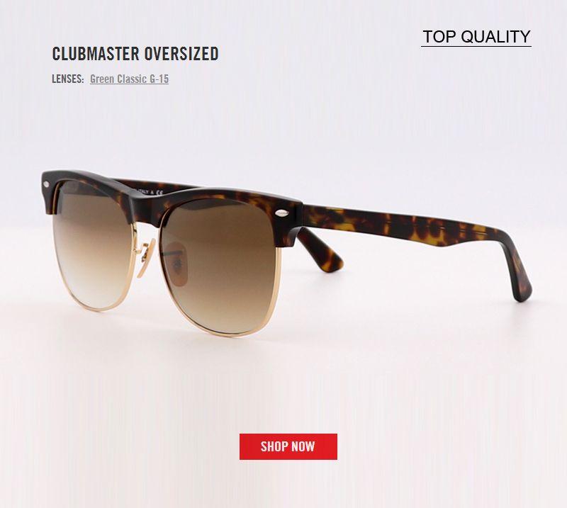 2018 nuovi classici del progettista di marca UV400 Club occhiali da sole donne degli uomini Semi Cerchiato Maestro Sunglass sovradimensionato guida lente di pendenza 4175 Eyewear