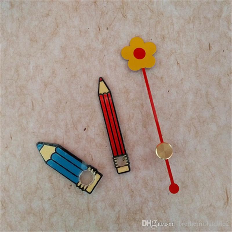 Wholesale hot 50 conjuntos coloridos de metal lápis de flores para mecanismo de relógio acessórios de reparação