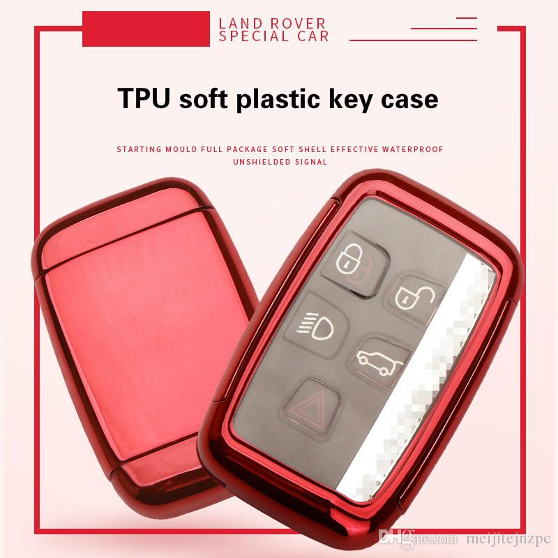 Land Rover car TPU key shell remote control button key package car motorcycle smart remote key shell anti-theft lock no chip uncut blade