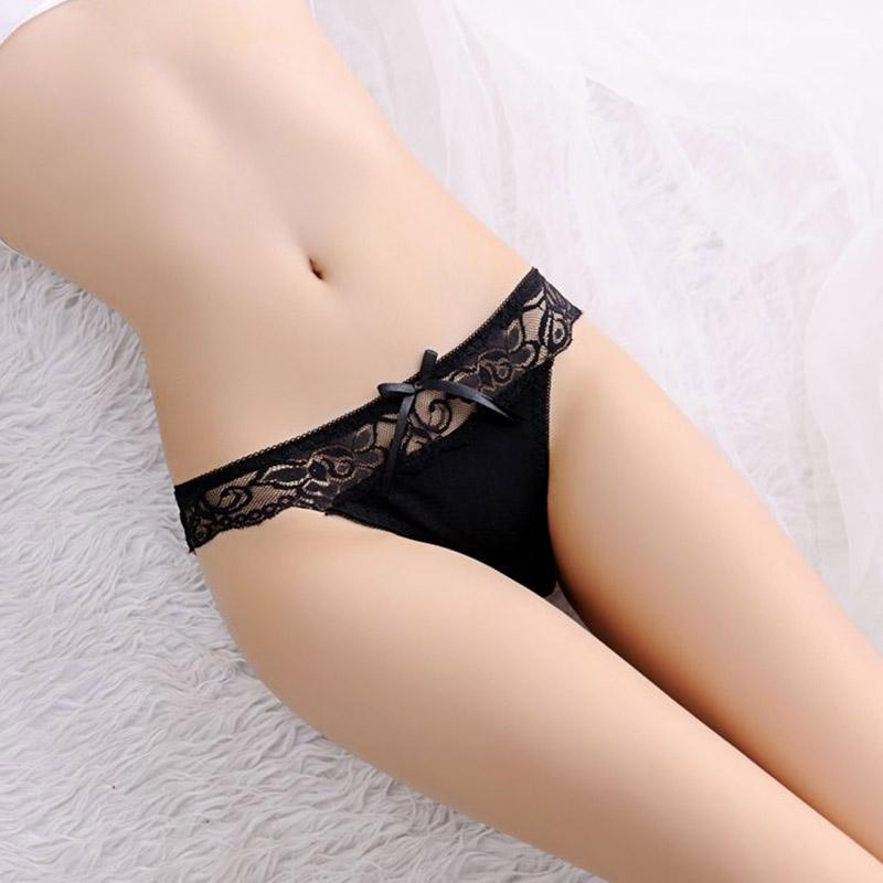 Girls Thongs Knicker Sexy Women Lace Transparent Briefs Seamless Panties V String Lingerie Underwear