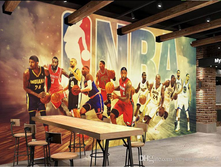 Настройка 3D фото обои звезда баскетбола обои для гостиной 3D Гостиная ТВ Backdrop Спальня Papel De Parede 3D