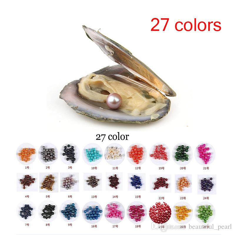 Free shipping 2018 New fai da te 6-7mm rotonda Silver Pearl 27 mix di colori perla d'acqua dolce naturale regalo fai da te allentati Tatuaggi confezionamento sottovuoto
