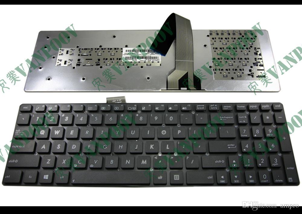 Nuevo teclado de portátil para ASUS K55 K55A K55VD K55VJ K55VM K55VS sin marco Negro