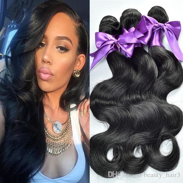 6a unprocessed nature pervian body wave hair weft 2pcs ,best quality pervuian nature hair human hair weave 3,4,5pcs/lot