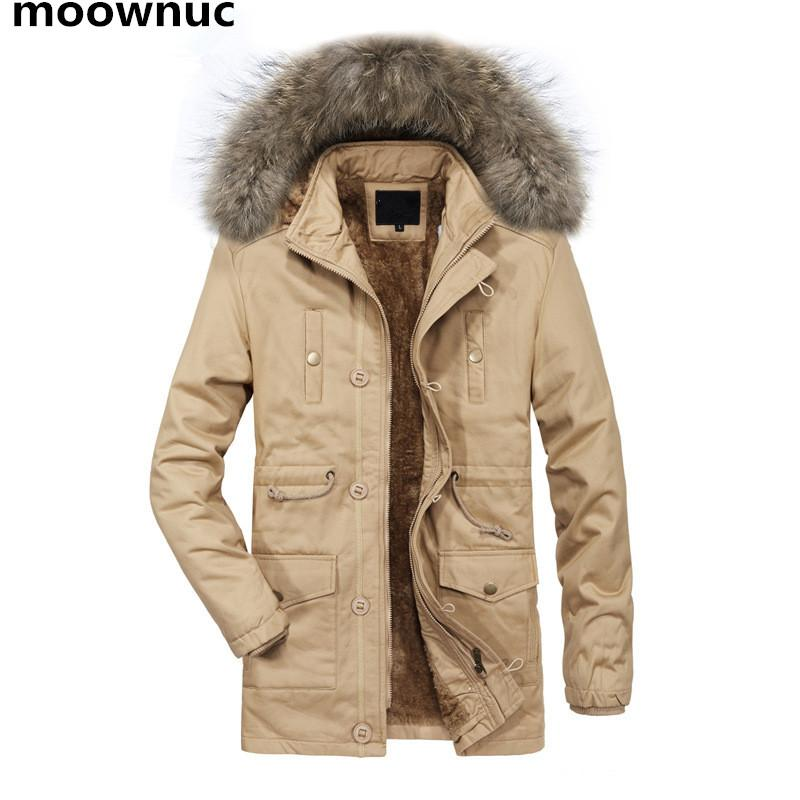 2018 новый куртка Мужские пальто зима толстые тепловой куртка мужчины Slim fit мех с капюшоном пальто повседневная мужская ветровки ветровки мужской M-3XL