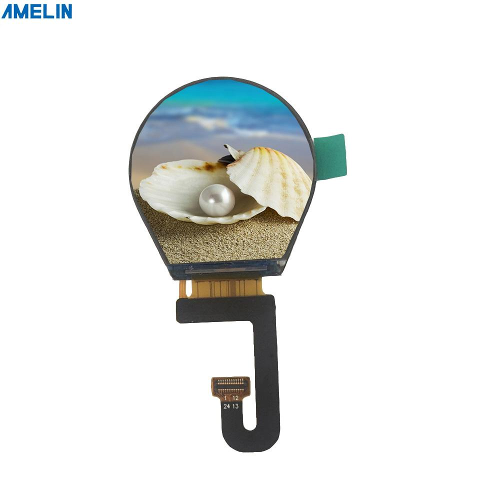 1.3 240*240 inch round lcd screen ST7789V IC with full viewing angle display from shenzhen amelin panel manufacture