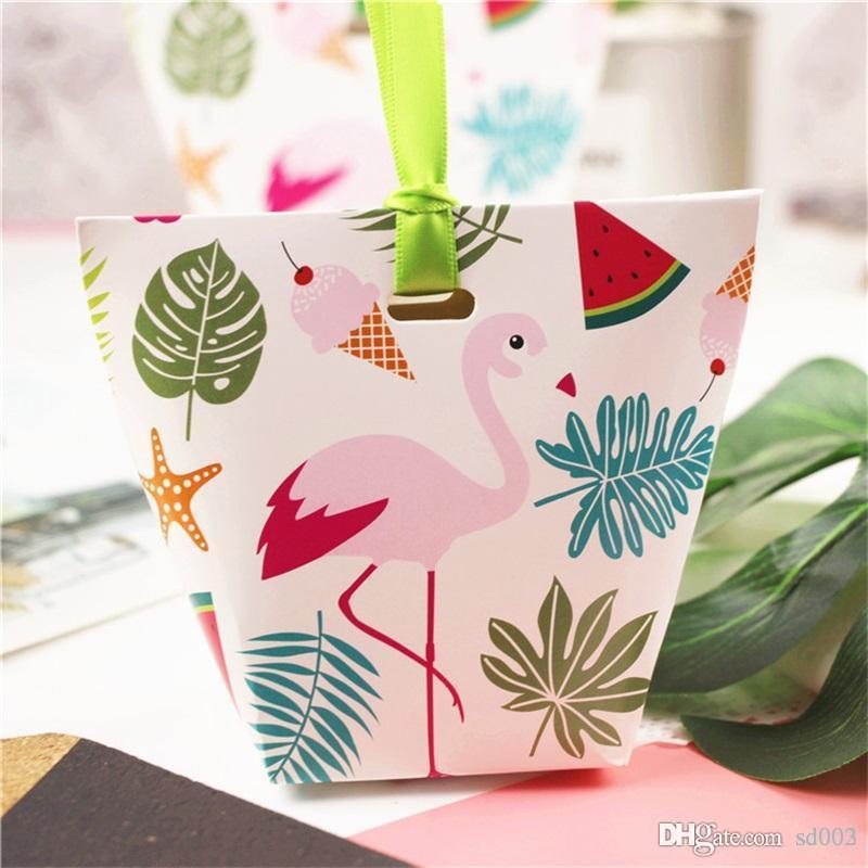 جديد ورقة هدية حقيبة عرس كاندي صندوق يونيكورن فلامنغو الصبار الاطفال عيد ميلاد لوازم praty الكرتون التفاف 0 5ch ii
