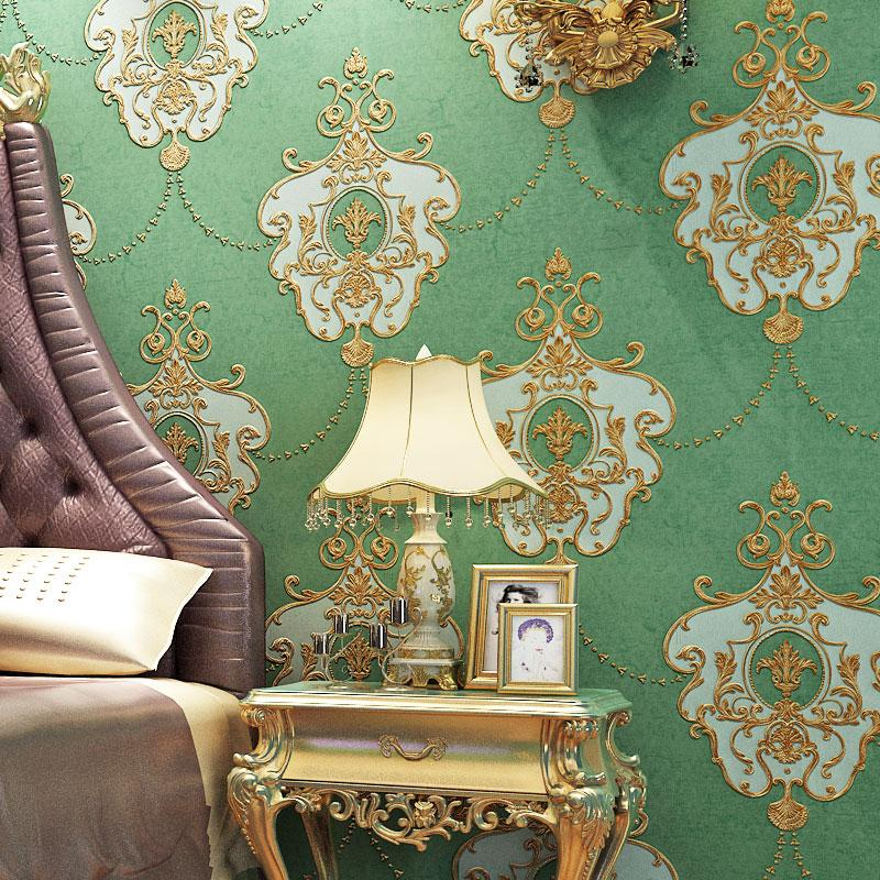 European Style Papel De Parede Damask Wall Paper 3d Bedroom Living Room Sofa Tv Background Home Decor Wallpaper For Walls Roll Wallpaperss Wallpapert