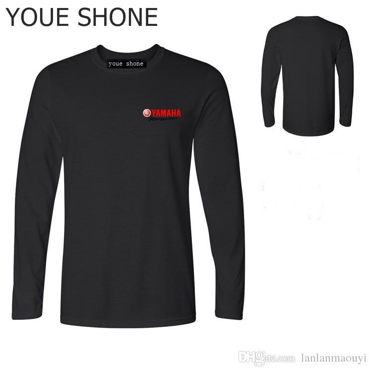 T-shirt da uomo in cotone moda estate T-shirt da uomo manica corta YAMAHA Yamaha Logo Revs Your Heart Manner stampato Magliette manica lunga Tees Polo