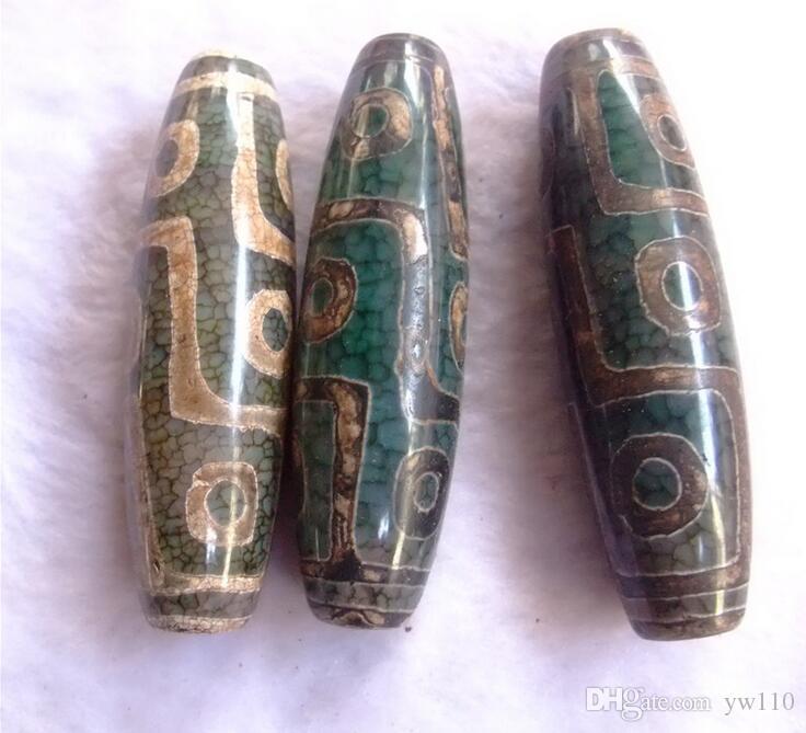 Authentique naturel perles tibétaines agate verte neuf oeil dZi Lezi en gros exorcisme safeAuthentique naturel perles tibétaines agate verte neuf oeil