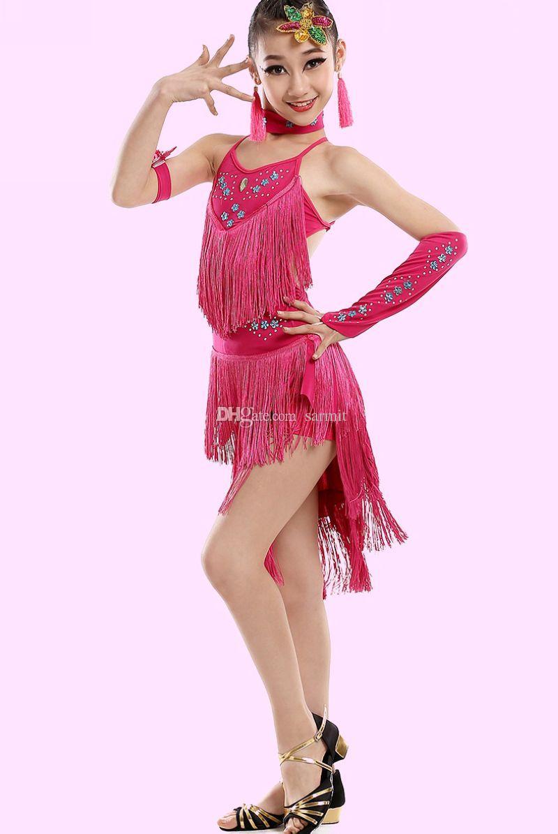 Compre Vestido De Baile Latino Para Niñas Vestido De Salsa Más Sexy ...