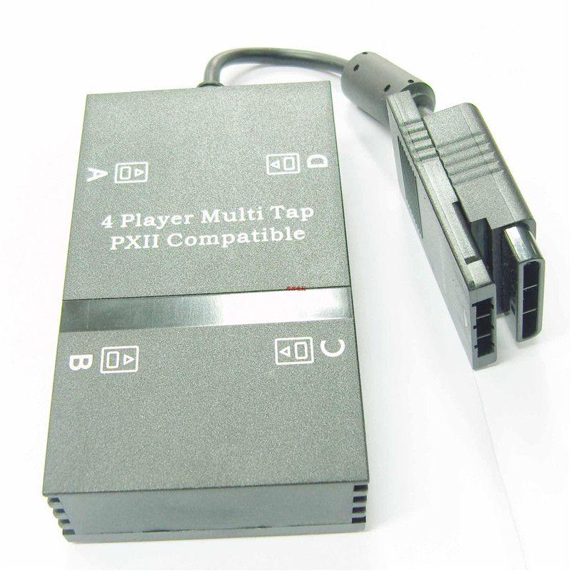 ل PS2 Multitap Multi انقر فوق محول Multiplayer Player لـ PlayStation 2 لـ PS 2 يدعم 4 وحدات تحكم