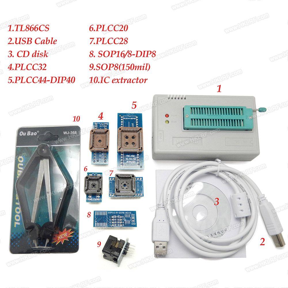V6.6 100٪ الأصلي جديد minipro TL866CS مبرمج +7 محولات المقبس عالية السرعة USB EPROM EEPROM فلاش عالية الأداء لمدة 1300