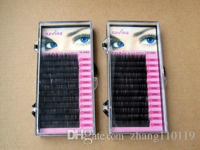 Navina 12 Rows Planting Grafting Eyelash Planting False Eyelashes C Curl 8mm10mm 12mm14mm Natural Soft Grafting Eyelashes Extension Makeup