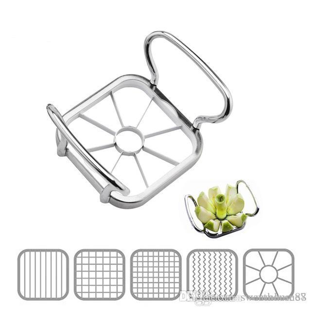5 in 1 Küche Gadgets Edelstahl Gemüse Obst Cutter Shredders Kartoffelchips Apfel Birne Französisch Frites Cutter Kostenloser Versand NB