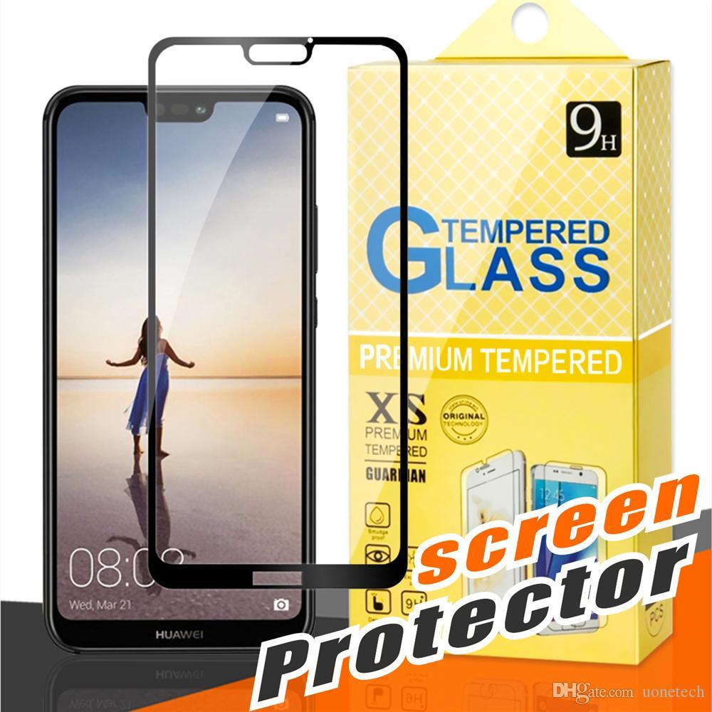 For J2 CORE huawei Mate 20 X MOTO E4 E5 Plus G5 G6 Plus X4 Z2 Play Huawei P20 lite Pro Full Cover Flim 2.5D Tempered Glass Screen Protector