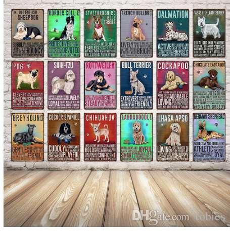 [Kelly66] الكلب ديكور تين تسجيل تين المشارك الرئيسية بار جدار الفن اللوحة المعدنية 20 * 30 cm الحجم Dy7