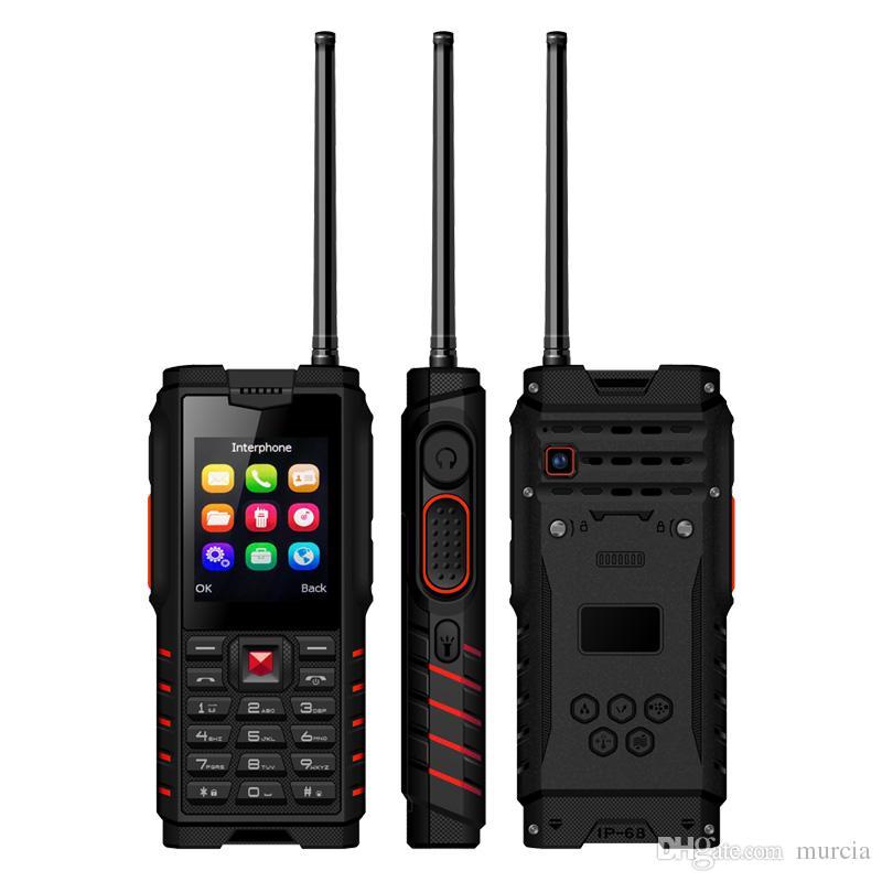 ioutdoor T2 Shockproof Mobile Phone ip68 Walkie-talkie Intercom 4500mAh Power Bank 2.4'' GSM Unlocked Feature Cell Phone