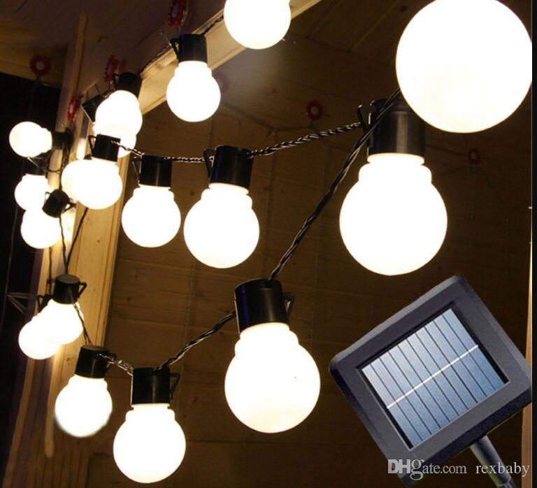 20led 5m солнечный свет Шнура Сид напольное декоративное сказочное освещение для рождественских елок, патио.Сторона