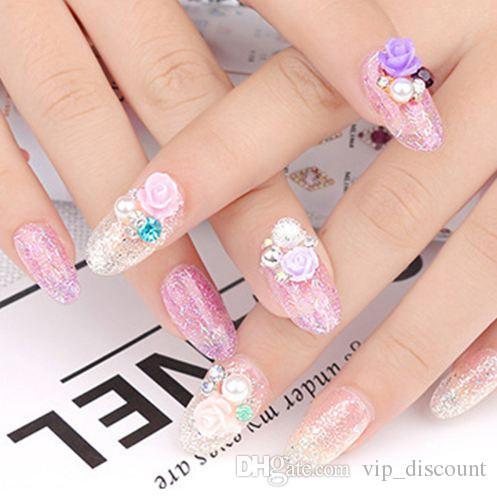 Nail Art 1pc joyería decoraciones de flores de resina japonesa 3d manicura pedicura Teléfono Adornos de bricolaje uñas bricolaje regalo accesorio de la belleza