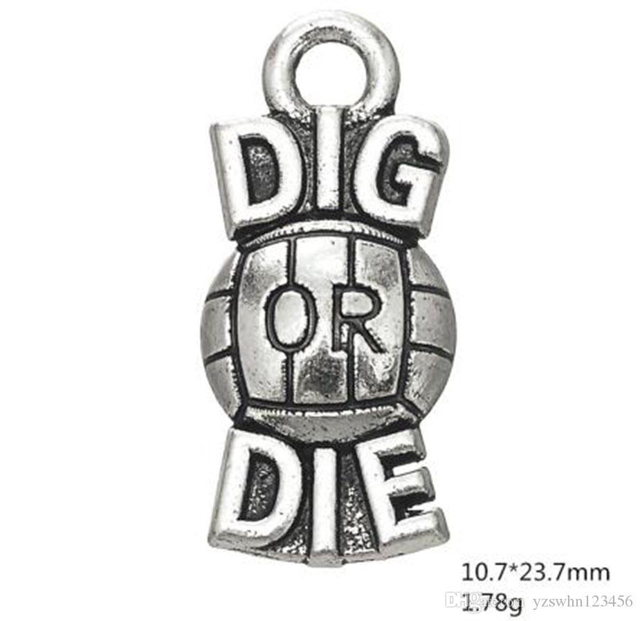 Liga carta dig ou morrer voleibol palavra charme jóias