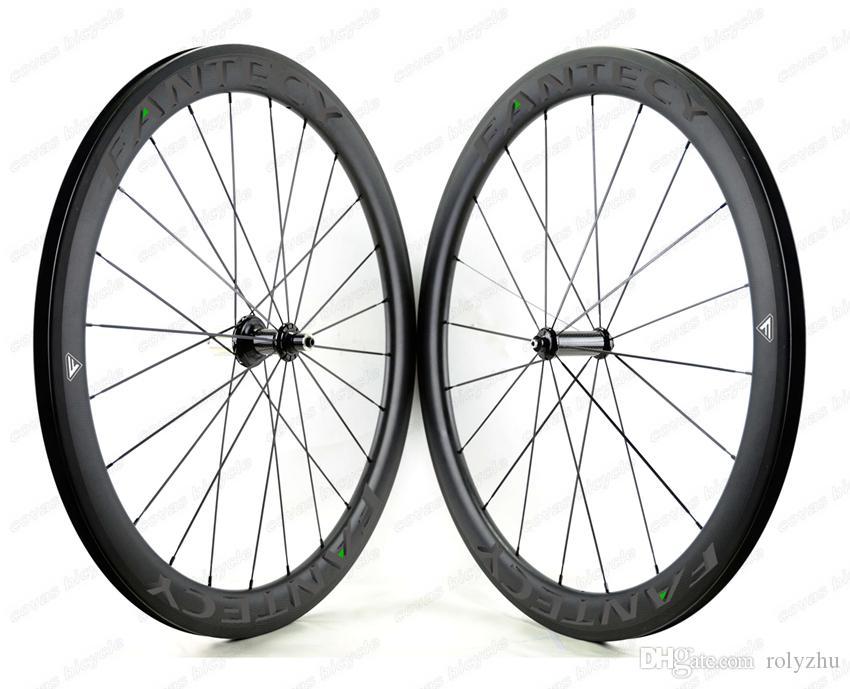FANTECY frete grátis 700C 50mm profundidade 25mm largura clincher / rodas de carbono Tubular Urltra-Luz Race50 Rodada bicicleta de carbono rodado
