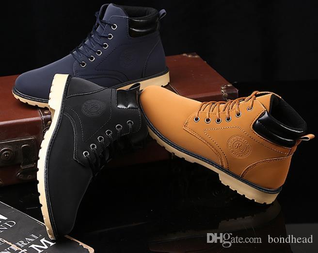 2018 yılı Yeni kışlık botlar, Martin botları, erkek açık hava kıyafetleri, botlar, erkek ayakkabıları için toptan botlar.