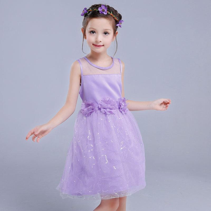 Kinder Infant Mädchen Blume Kleid Kinder Brautjungfer Kleinkind Elegantes Kleid Pageant Hochzeit Braut Tulle Formelle Party Kleid