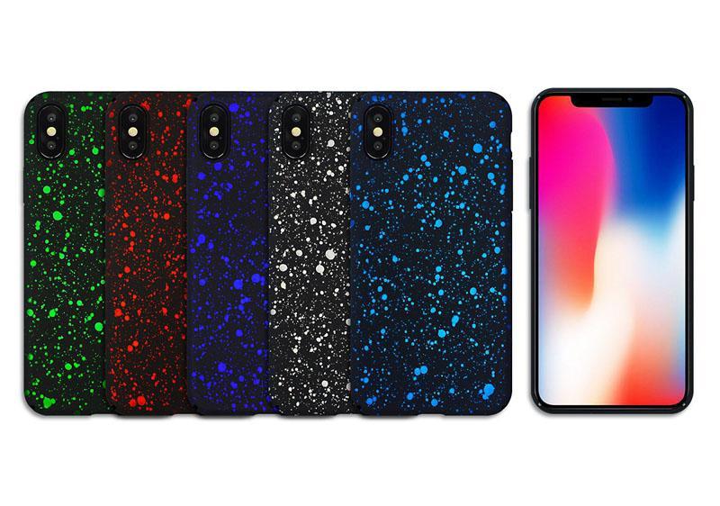 스타 코팅 안티 노크 별이 빛나는 하늘 젖빛 하드 PC 뒤 표지 케이스 아이폰 (11) 프로 X XS 최대 XR 8 7 6 6S 5 SE 2020