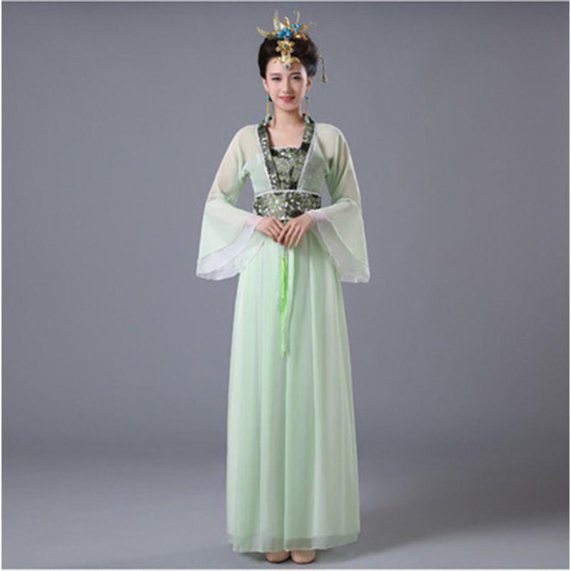 DJGRSTER Donne tradizionali cinesi Hanfu Dress Fairy vestito cinese 8 colori Hanfu Abbigliamento Tang Dynasty Costume antico