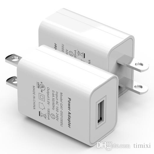 5V 1A USB Charger with US Plug CE UL FCC Certified Power Adapter Wall Charger Universal Travel Charger For Cell Phone Tablet