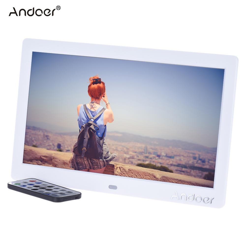"""vente en gros 10 """"HD LCD numérique cadre photo 1024 * 600 MP3 MP4 lecteur de musique film E-book calendrier horloge avec télécommande"""