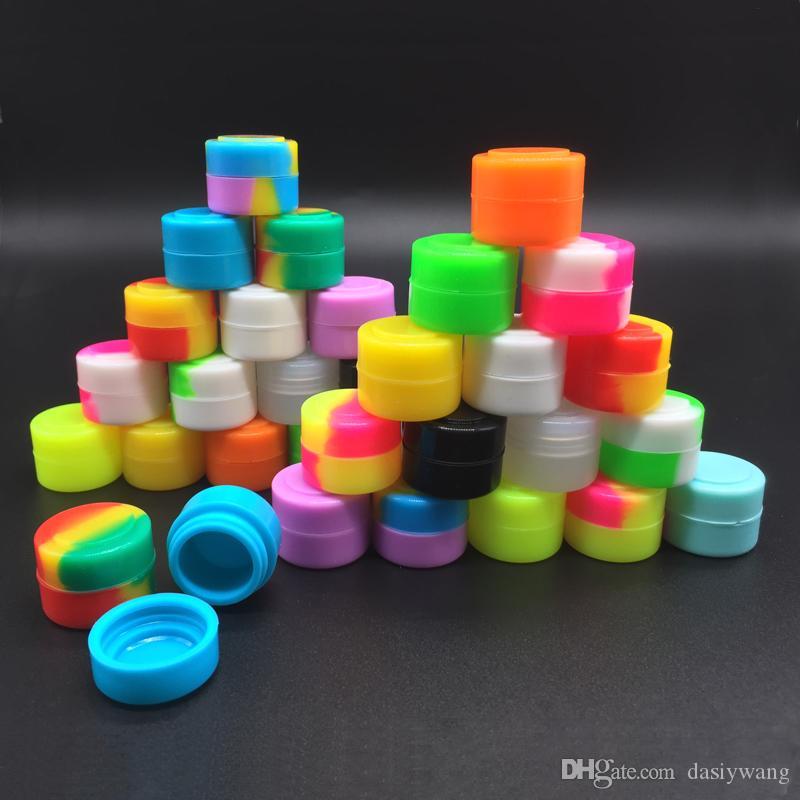 İyi Miini Non Stick Silikon Kavanozları Dab Wax ContainerButane Hash Yağ Silikon Konteyner Satılık 2 Ml İçin
