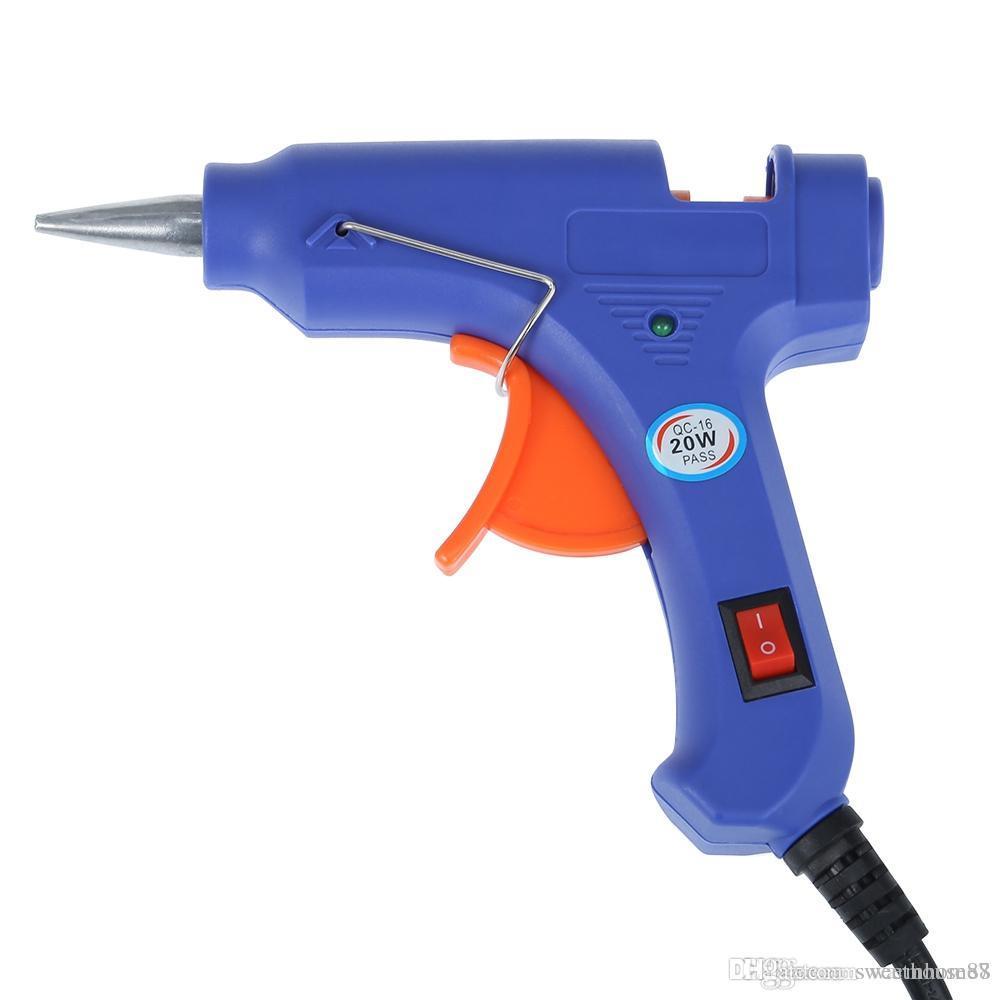 2019 Professional High Temp Hot Melt Glue Gun 20w Graft Repair Heat Gun Pneumatic Diy Tools Hot Glue Gun Free Glue Sticks Diy Project Vb From