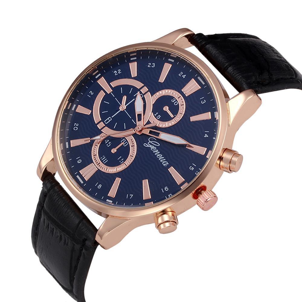 2018 meilleure vente hommes de montre Retro Design bracelet en cuir analogique en alliage montre à quartz relogio masculino reloj hombre Horloge