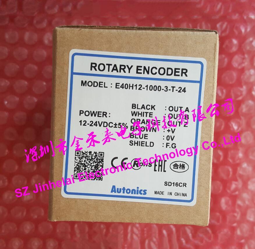 New and original AUTONICS E40H12-1000-3-T-24 ENCODER 12-24VDC Incremental rotary encoder