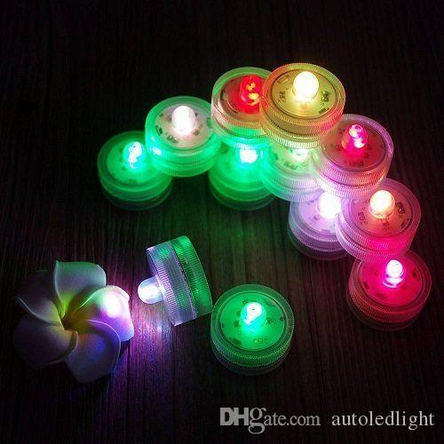Candle light LED Submersible Waterproof Tea Lights battery power Decoration Candle Wedding Party Christmas High Quality decoration light