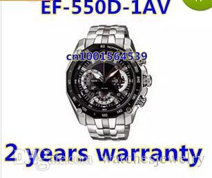 En gros-EF-550D-1AV nieuwe ef-550d 550 mannen zwart gezicht polshorloge ef-550d-1a rencontré 1/20 chronomètre