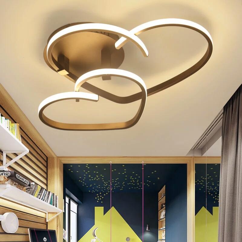 Großhandel VEIHAO Neue Moderne LED Deckenleuchte Wohnzimmer Schlafzimmer  Beleuchtung Acryl Schatten Restaurant Küche Deckenleuchte Von Happylights,  ...