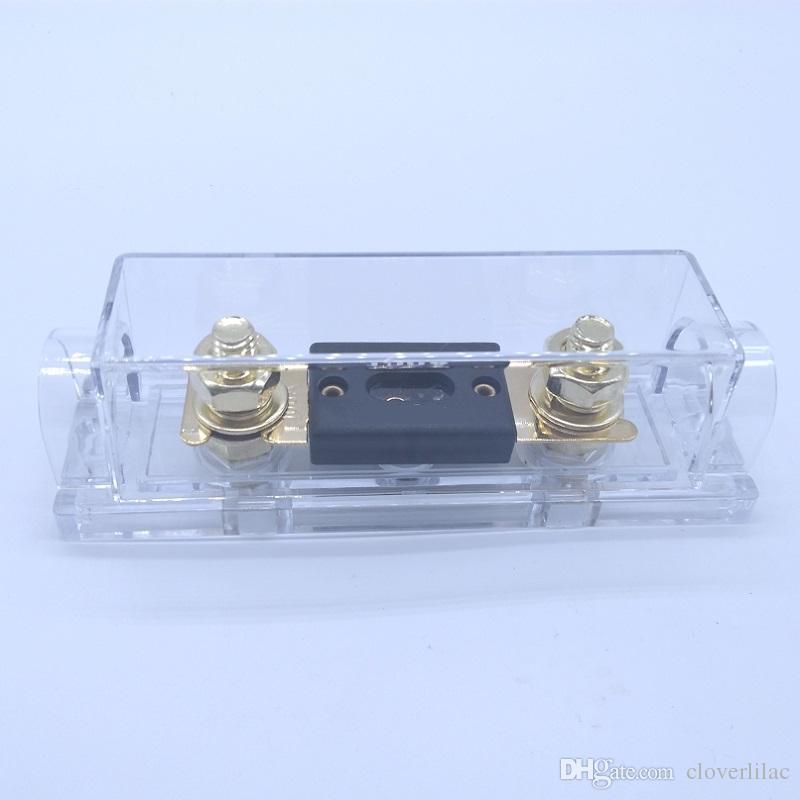 1 en 1 hacia fuera 100A Portafusibles Portafusibles 100A Portafusibles para amplificador de audio para autom/óvil 0Ga-4Ga