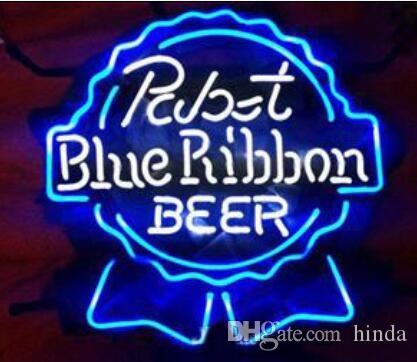 24*24 inches PABST BLUE RIBBON BEER neon Sign with Backing Neon Sign Flex Rope Light LED Indoor/Outdoor Decoration RGB Voltage 110V-240V