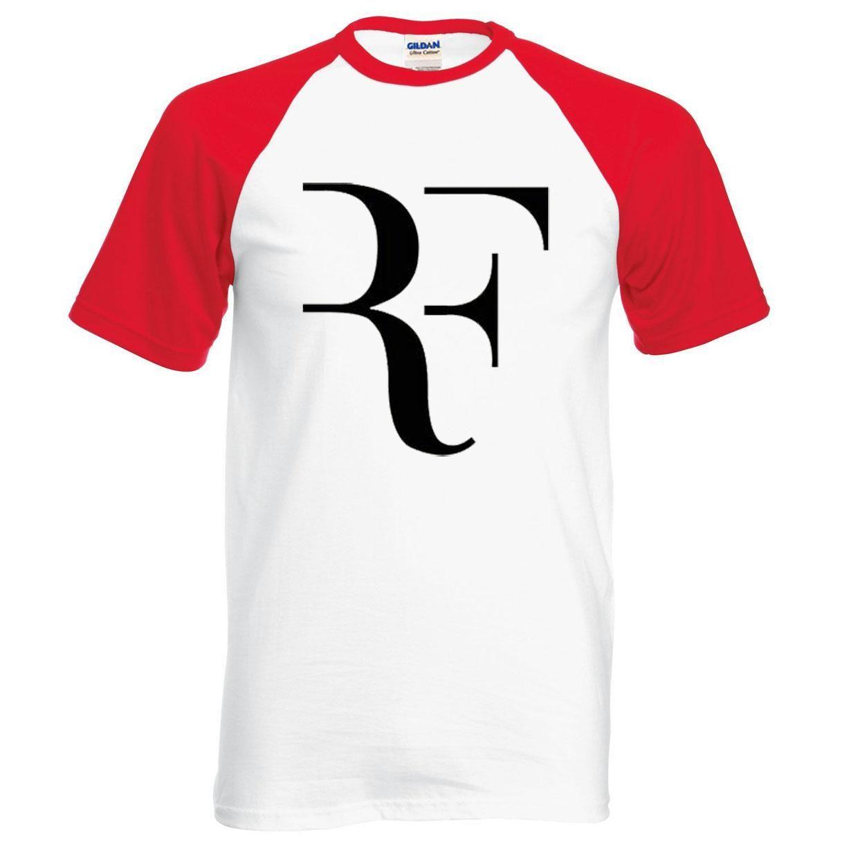 2018 nuova estate Roger Federer maglietta degli uomini RF raglan t shirt moda 100% cotone hip hop sciolto t-shirt supera it marchio di abbigliamento