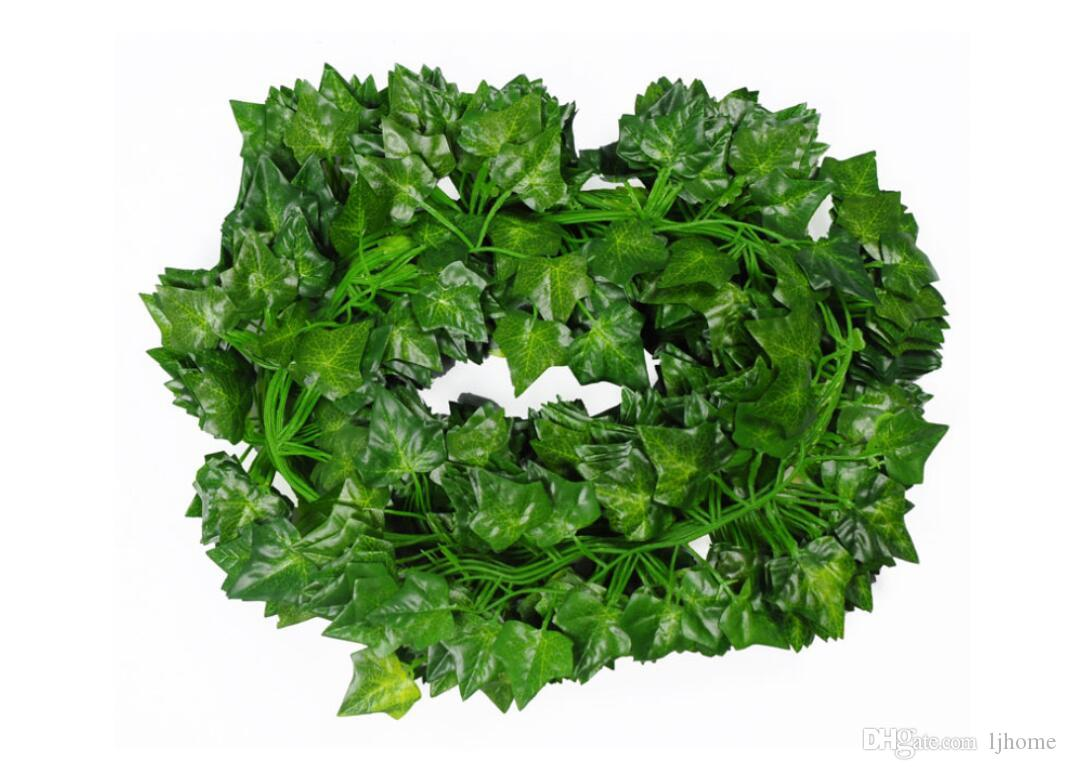 12Pcs 2M Artificial Ivy Leaf Garland Plants Vine Fake Foliage Flowers Plastic Plants For DIY decoration Free Shipping