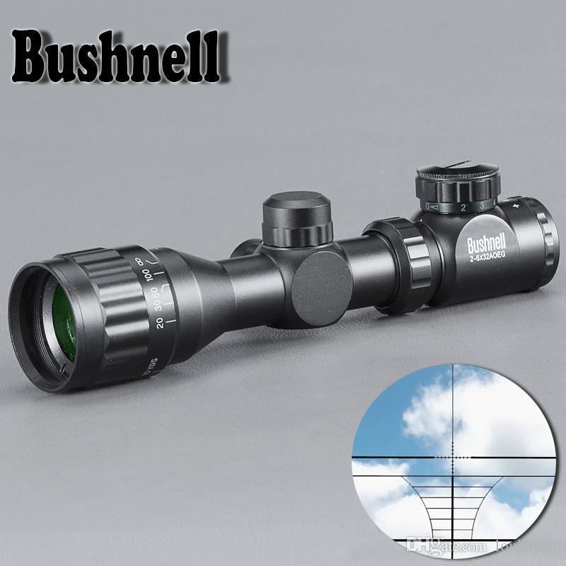 BUSHNELL 2-6X32 Caccia verde Red Dot Illuminato Tactical Mirino reticolo ottico Mirino per fucile Riflescope