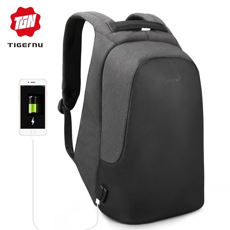 Tigernu الرجال والنساء مكافحة سرقة حقيبة كمبيوتر محمول 15.6 السفر عارضة حقيبة الظهر ماء المدرسة للشباب الفتيان الفتيات