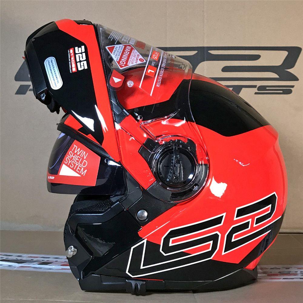 Ls2 ff325 strobe flip up motocicleta capacete estrada modular civik zona capacete cascos moto casques