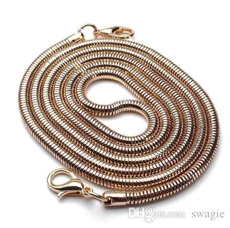 Cinghie di ricambio 110CM Cinghie a tracolla con manico a catena fai-da-te Cinghie a tracolla in acciaio inox Borse in metallo con cinturino in metallo Accessori