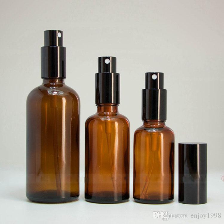 Vide bouteille de parfum en verre 30ml 50ml 100ml eliquid Huile Rechargeables Bouteilles ambrées Atomiseur verre Vaporisateurs pour les parfums