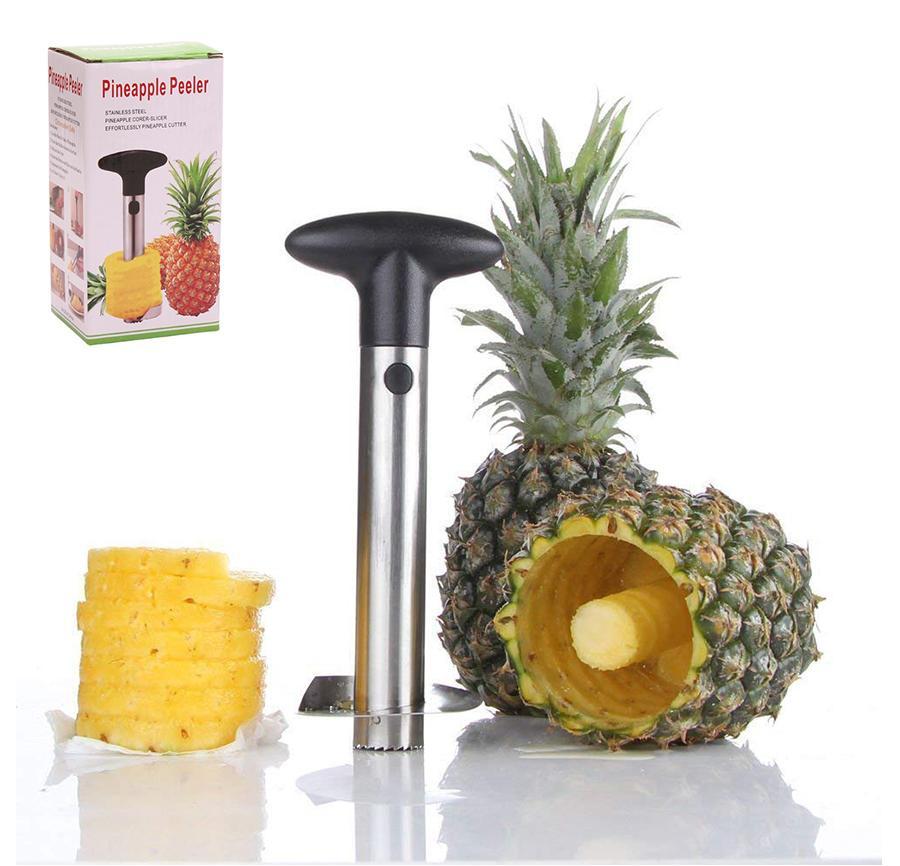 Küche Edelstahl Ananasschäler Cutter Slicer Corer Peel Core Tools Obst Gemüse Messer Gadget Spiralizer Hot Novelty Home hält