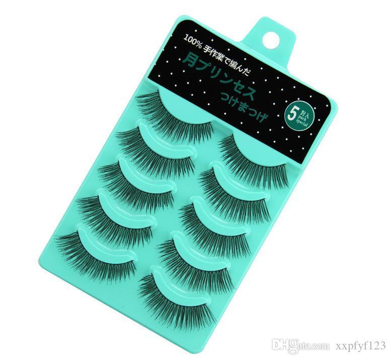 Beleza da saúde 3d vison cílios tiras cílios falsos essência da beleza conjunto de cílios postiços feitos à mão cruzado eye lash extensão ferramentas a845
